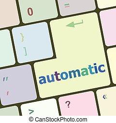 computer, knoop, illustratie, vector, klee, toetsenbord, automatisch
