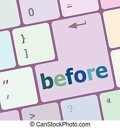 computer, knoop, illustratie, vector, klee, toetsenbord, voor