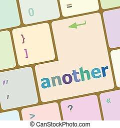 computer sleutel, knoop, illustratie, vector, een ander, toetsenbord