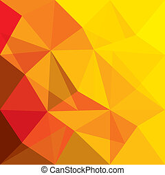 concept, gedaantes, sinaasappel, vector, achtergrond, geometrisch, rood