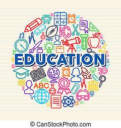 concept, opleiding, illustratie