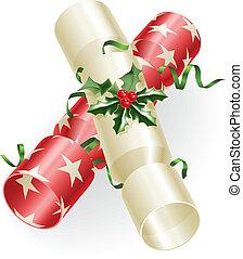 crackers, kerstmis