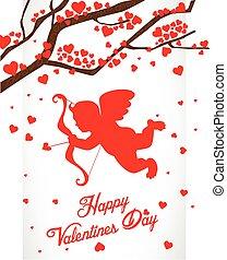 dag, achtergrond, valentijn