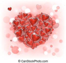 dag, hart, valentines