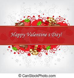 dag, kaart, valentines