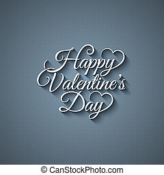 dag, lettering, achtergrond, ouderwetse , valentines