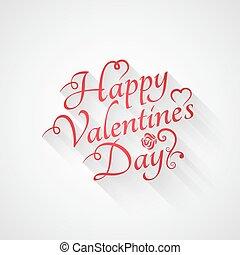 dag, retro, lettering, achtergrond, ouderwetse , valentines