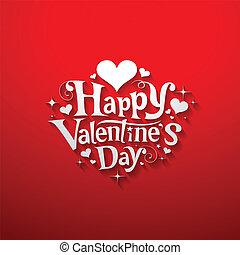 dag, spandoek, boodschap, vrolijke , valentijn