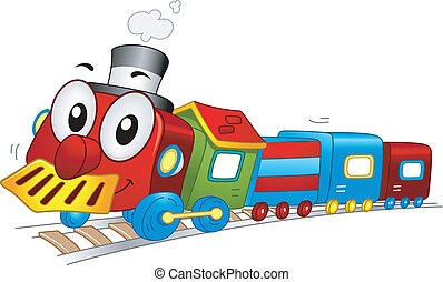 de trein van het stuk speelgoed, mascotte