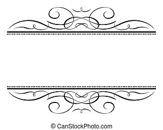 decoratief, decoratief, frame, vignet, kalligrafie, kalligrafie
