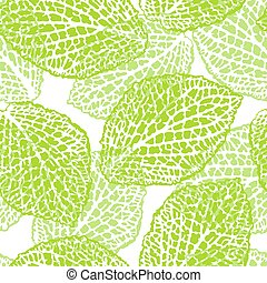 decoratief, gedetailleerd, natuurlijke knippatroon, seamless, illustratie, leaves.