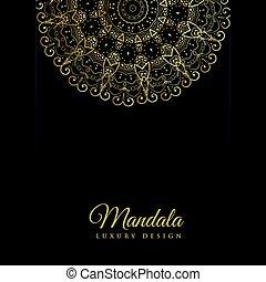 decoratief, goud, kleur ontwerp, luxe, achtergrond, mandala