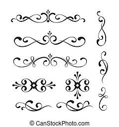 decorative elements, versieringen