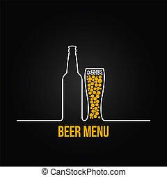 deign, glas, bier fles, achtergrond