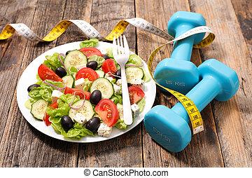 dieet, vers voedsel, slaatje