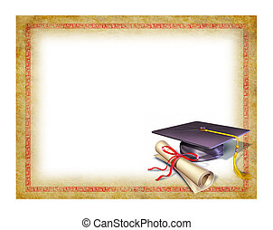 diploma, afgestudeerd, leeg