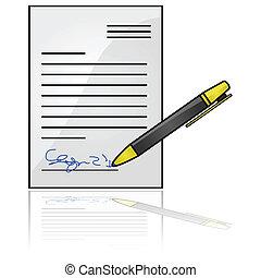 document, ondertekeend