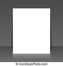 donker, achtergrond., vector, papier, leeg, witte
