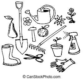 doodle, tuin, verzameling