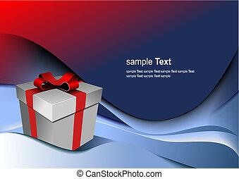 doosje, cadeau, holiday., illustratie, helder, vector, enig