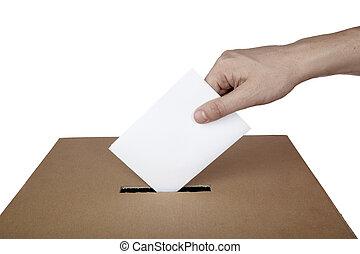 doosje, keuze, verkiezing, stem, politiek, stemming, stemming