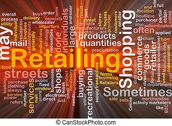 doosje, retailing, woord, wolk, verpakken
