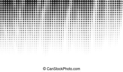 dotted, black , achtergrond., halftone, abstract