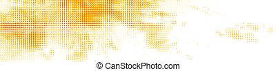 dotted, sinaasappel, achtergrond., halftone, abstract