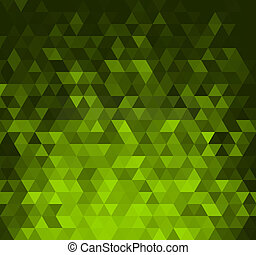 driehoeken, abstract, groene, gloeiend, achtergrond