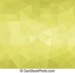 driehoekig, poly, facet, groene, laag, achtergrond