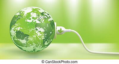 duurzaam, vector, energie, groene, concept