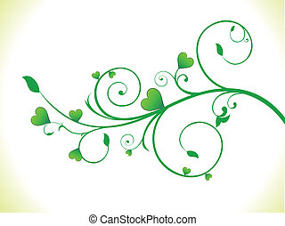 eco, hart, abstract, groen plant