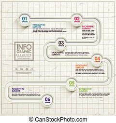 eenvoud, mal, infographic, ontwerp