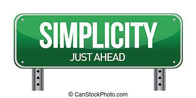eenvoud, wegaanduiding