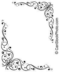 eenvoudig, floral, abstract, b