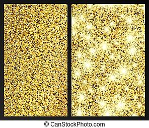 effect, schitteren, achtergrond, gouden
