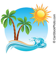 eiland, tropische