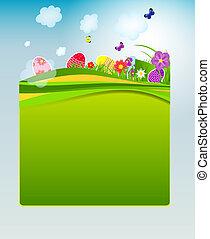 eitjes, vector, pasen, achtergrond, illustratie