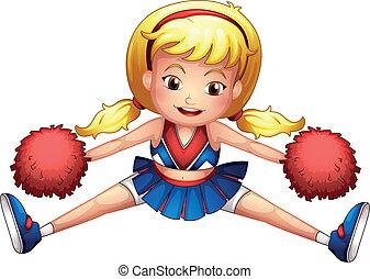 energiek, cheerleader
