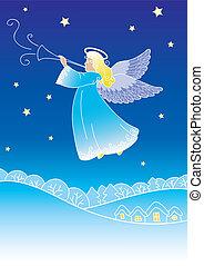 engel, begroetende kaart