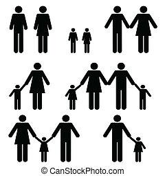 enkel, families, twee, ouder