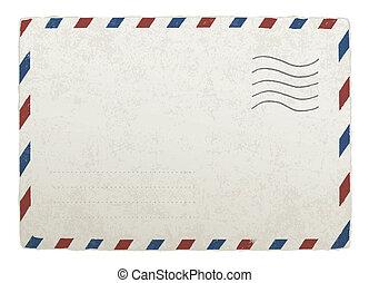 envelope., 10., ouderwetse , ontwerpen, eps, vector, mal, mailing, jouw