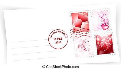 enveloppe, dag, valentijn