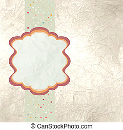 eps, groet, retro, 8, template., kaart