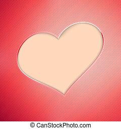 eps10, valentine, +, achtergrond., dag, rood