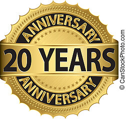 etiket, gouden jaren, jubileum, 20