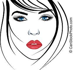face., meisje, beauty