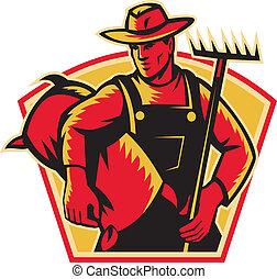 farmer, rak, landbouwarbeider