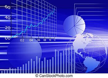 financieel, zakelijk, abstract, achtergrond, wereld, data