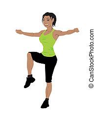 fitness oefening, vrouwen